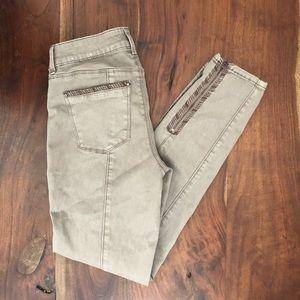 Mauve Moto Skinny Jeans